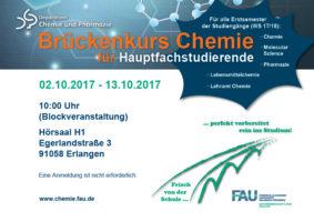 Poster Brückenkurs Chemie 2017
