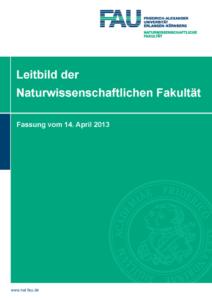 Leitbild der Naturwissenschaftlichen Fakultät der FAU