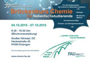 Poster zum Nebenfach-Brückenkurs 2016 (Bild: FAU)