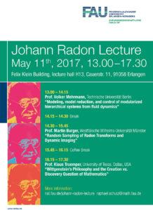 Programm Johann Radon Lecture 2017